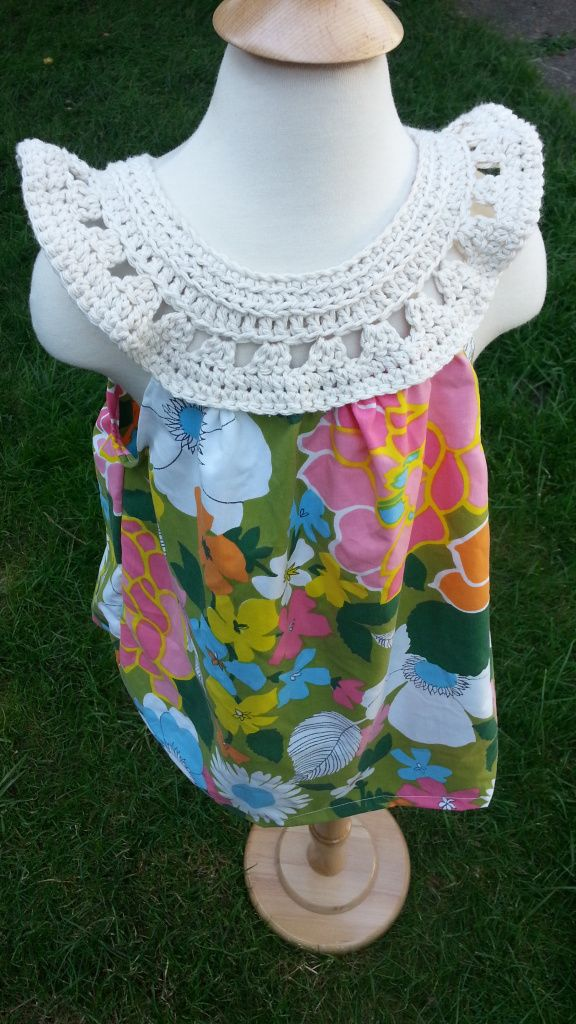 Crochet yoke for girls' tops/dresses, free pattern