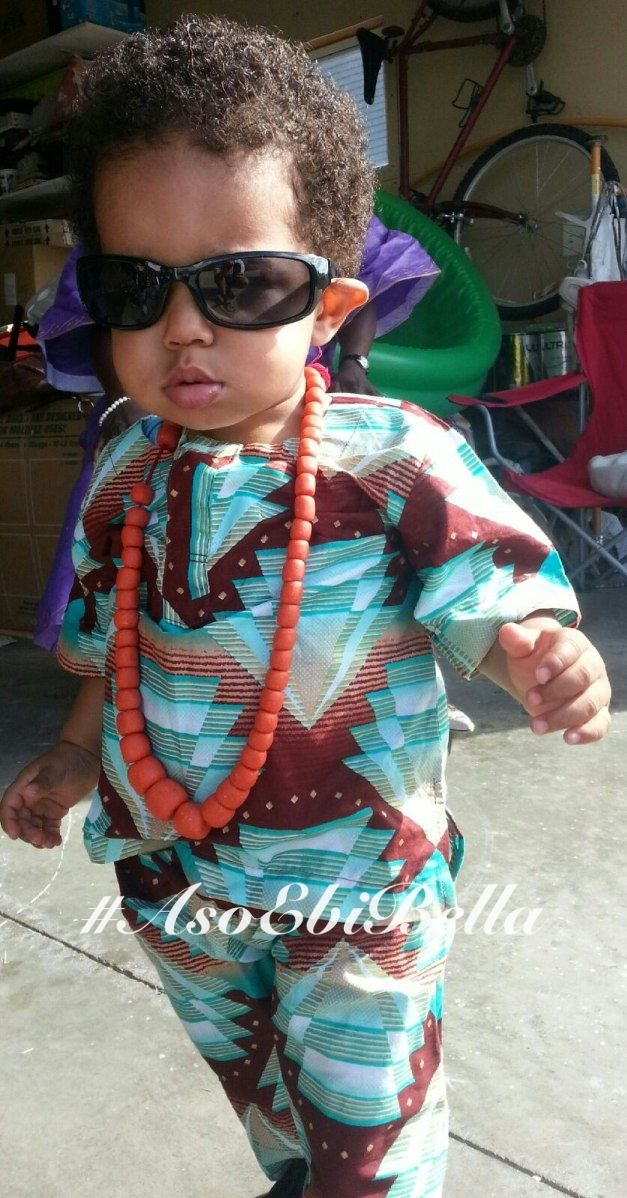 Nigerian Clothing for a little boy. Will be my son one day...  http://static.bellanaija.com/wp-content/uploads/2014/02/Aso-Ebi-Aso-Ebi-Bella@Efosa-smith-2.jpg