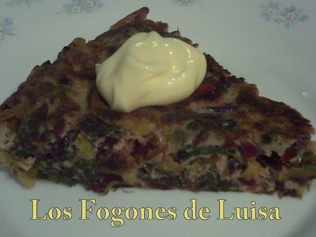 Los Fogones de Luisa: TORTILLA CON HOJAS DE REMOLACHA (APROVECHAMIENTO)