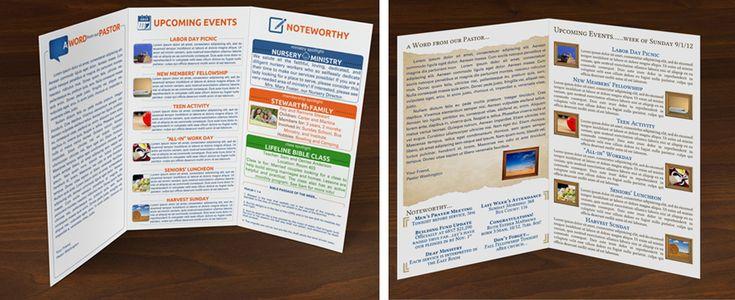 Church bulletin church bulletins pinterest church medium and church bulletins for Church bulletin ideas layouts