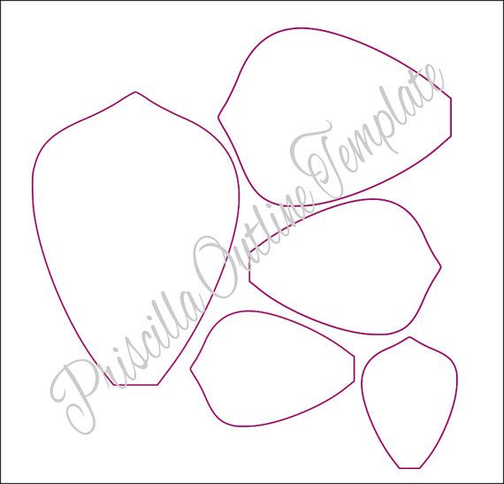 Extra Large Priscilla Style And Leaf Paper Flower Printable