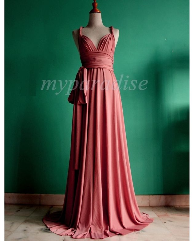 dunkelrosa unendlich Hochzeit formales Kleid