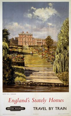 """England's Stately Homes Newby Hall, Yorkshire"" on VintageRailPosters.co.uk Prints"