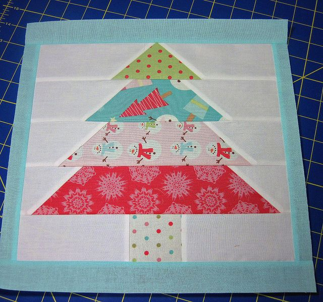 Christmas tree quilt block tutorial. A whole throw quilt of these with appliqued…