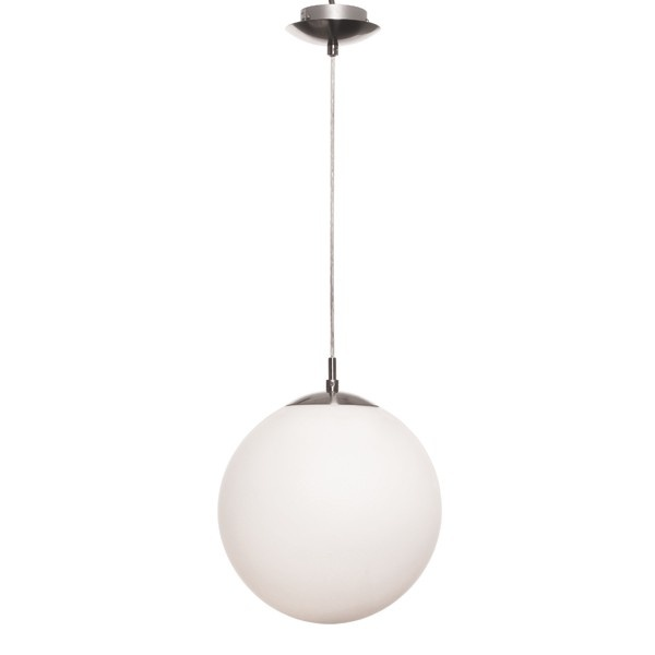 Rondo 1 Light 300mm Pendant in White/Brushed Chrome Beacon $90 U9A bed's