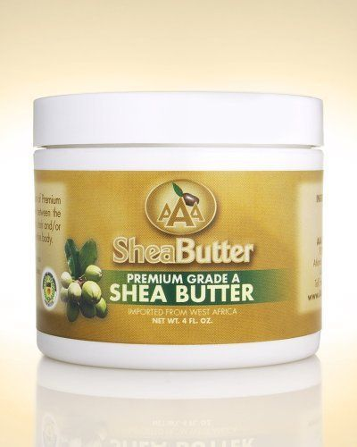 100% Unrefined Certified Grade A Shea Butter 4 oz. by AAA Shea Butter Company By AAA Shea Butter. $10.00. Blemishes and wrinkles, Sunburn, Skin cracks, Insect bites. Dry Skin, Skin Rash, Skin peeling after tanning, Itchy skin. Tough or rough skin (on feet), Frost bites, Healthy skin. Stretch mark prevention during pregnancy, Eczema, Dermatitis. ALL SHEA BUTTERS ARE NOT EQUAL!   100% Pure & Natural Shea Butter is an all-natural vitamin A cream. Shea Butter has b...