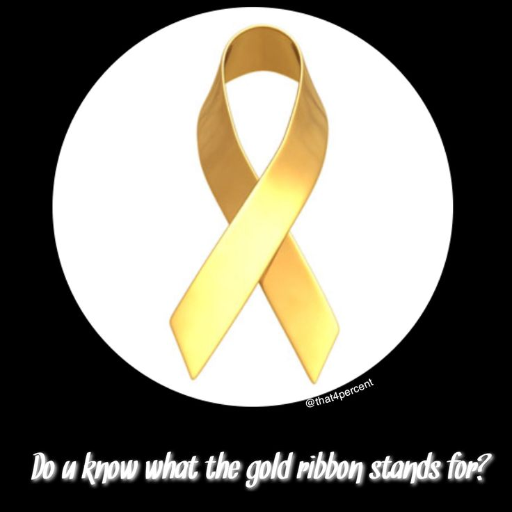 Do you know what a gold ribbon is? A gold ribbon represents childhood cancer awareness! #childhoodcancer #GoGold