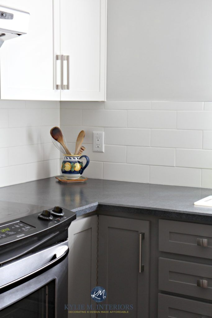 A Budget Friendly Kitchen Update White Gray And