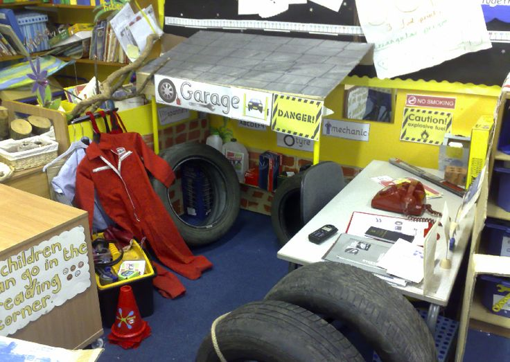 Garage role-play area classroom display photo - Photo gallery - SparkleBox