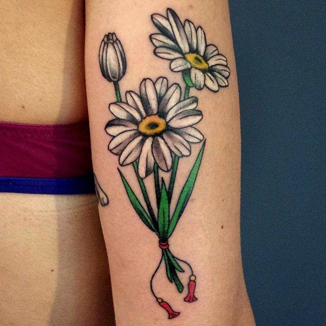 Simple Daisy Tattoo Jerusalem House