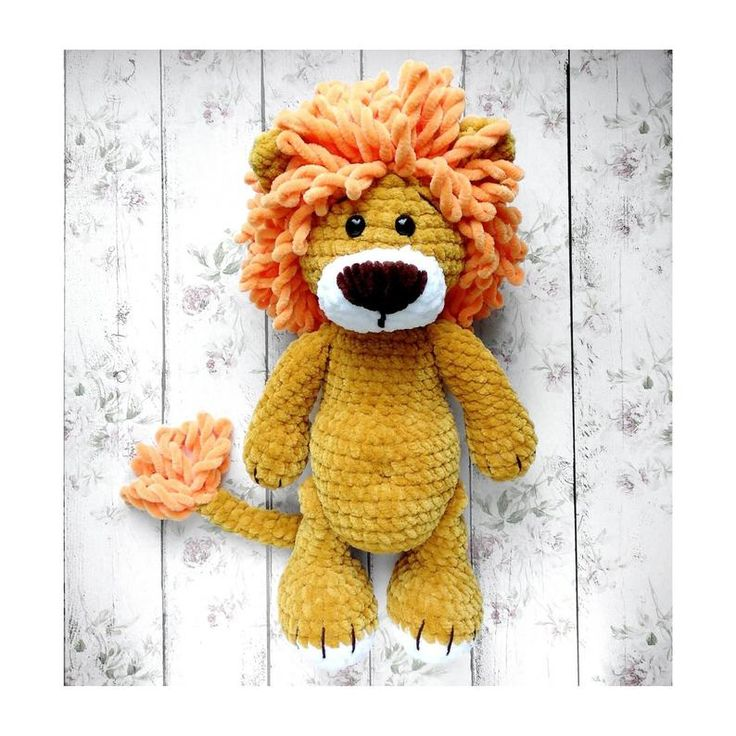 Soft plush lion crochet toys for baby handmade toy for newborn lion for kids handmade lion knitted toy amigurumi Easter gift for baby shower