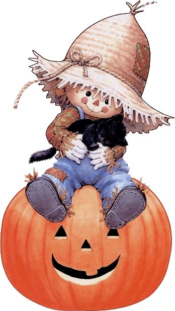 ruth morehead halloween   épouvantail sur une citrouille 9