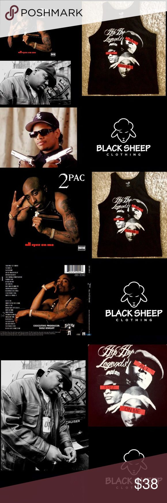 """2PAC•Eazy E•Biggie•Legends of Hip Hop Rap Tank🎶 The Life/Legacy of2Pac•All Eyez On Me Movie released 6/16/17would have been 2PAC46thBDayAll 👀 2PACS 4th&last album 2/13/96 won""""97SoulTrain R&B/SoulRap AlbumYear 2Pac MTV12/95 That's how I feelThe police watching me,Feds.females want2charge me w/false charges,sue me,jealous homeboy Everybody lookin2see what I'mma do Lyrics""""Live my life as a thug til the day I die,Iknow ya watchin,Live my life as a Boss Payer(I know ya got me in the scopes…"""