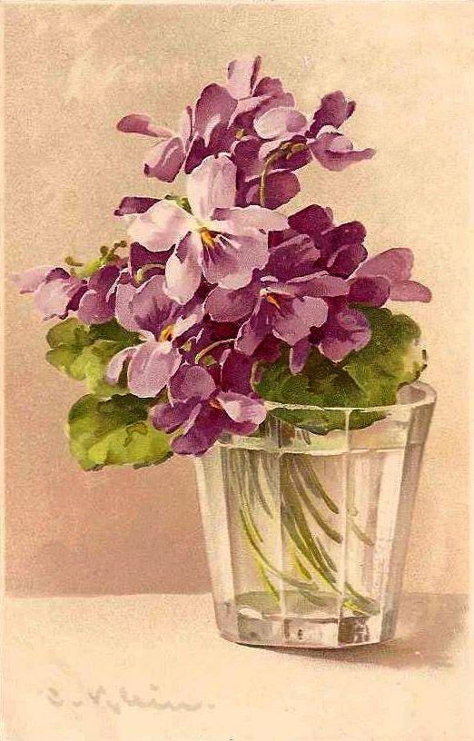 Pansies in Water/ Watercolor