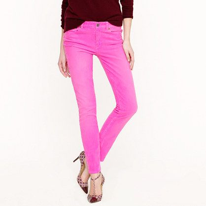 neon cord: Neon Cords, Color Combos, Neon Jeans, Pink Skinny, Pink Pants, Toothpick Cords, Pink Jeans, Color Pants, Neon Pink