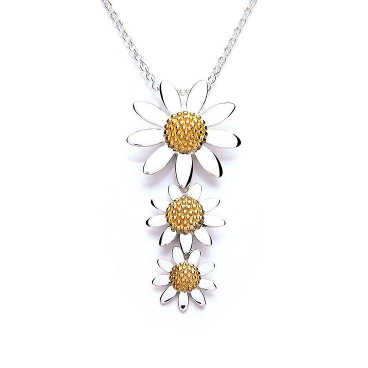 Daisy Vintage Triple Daisy Necklace