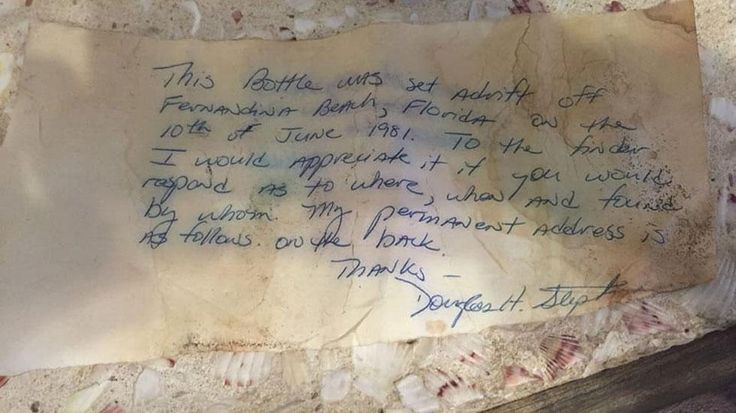 Message in a Bottle From 1981 Washes Up on Georgia Beach | The Weather Channel
