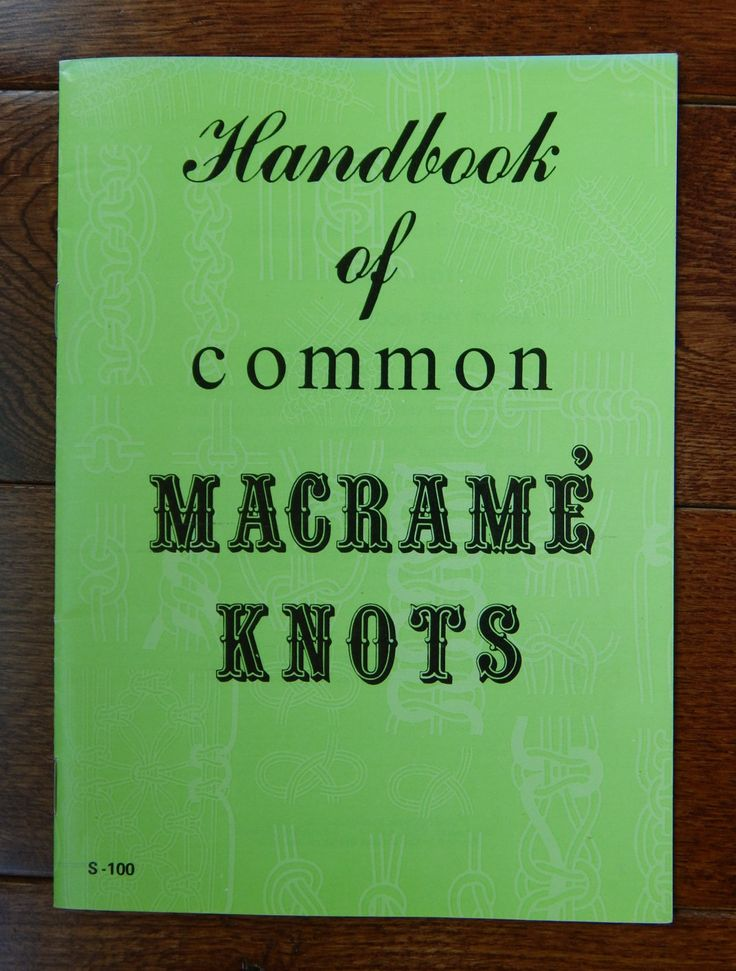 Macrame Book/ Handbook of Common Macrame Knots - An Instructional Booklet for Beginners to Experienced Macramers/ Learn to macrame by RedWickerBasket on Etsy