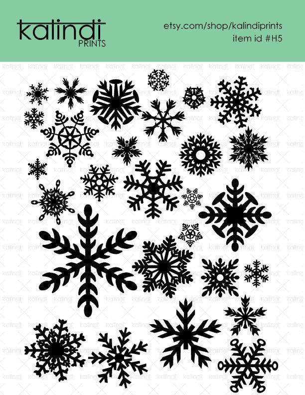 Snowflakes SVG files, 28 Snowflakes vector designs, 1 PNG