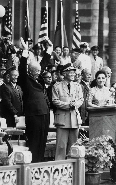 Chiang Kaishek and Eisenhower.