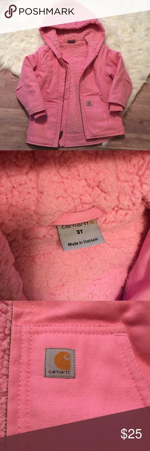 Carhartt pink 3T winter coat (Like New) Like New Carhartt winter jacket. 3T, no wear. So cute and incredibly warm! Carhartt Jackets & Coats