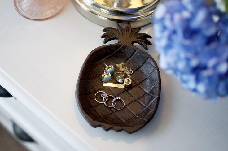 Cast Iron Pineapple Trinket Tray
