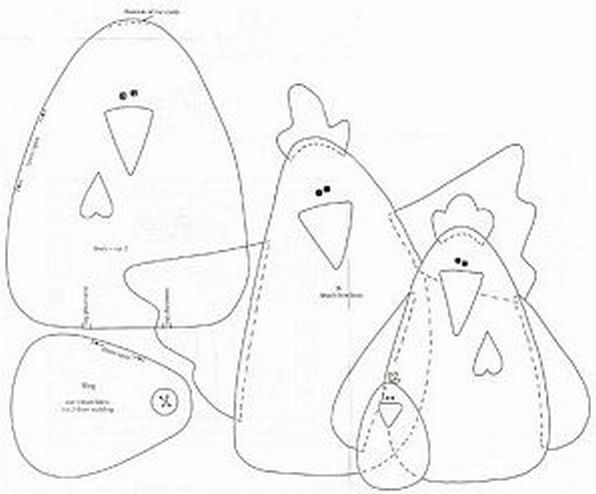 Free Chicken Applique Patterns | PATTERNS TO SHARE /monthly give aways mis. patterns | free and shared ...