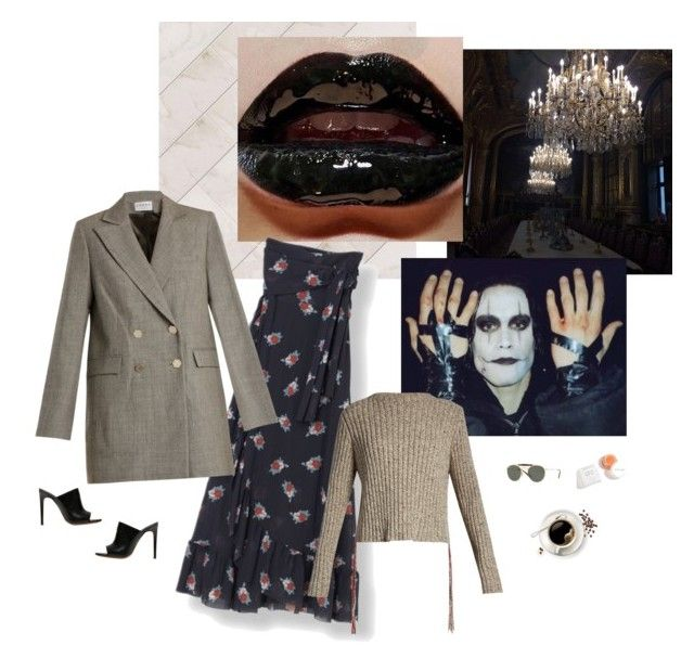 """""""Untitled #5763"""" by amberelb ❤ liked on Polyvore featuring Osman, Merlyn and Ray-Ban"""