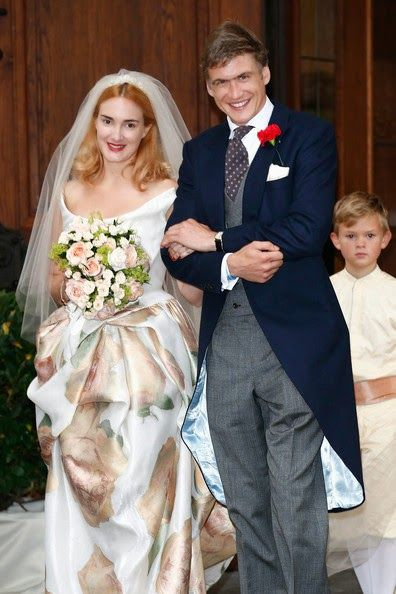 Royal Family Around the World: Wedding Of Maria Theresia Princess von Thurn und Taxis And Hugo Wilson on 13 September 2014 in Tutzing, Germany