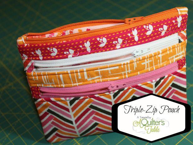 http://makezine.com/craft/how-to-triple-zip-pouch/