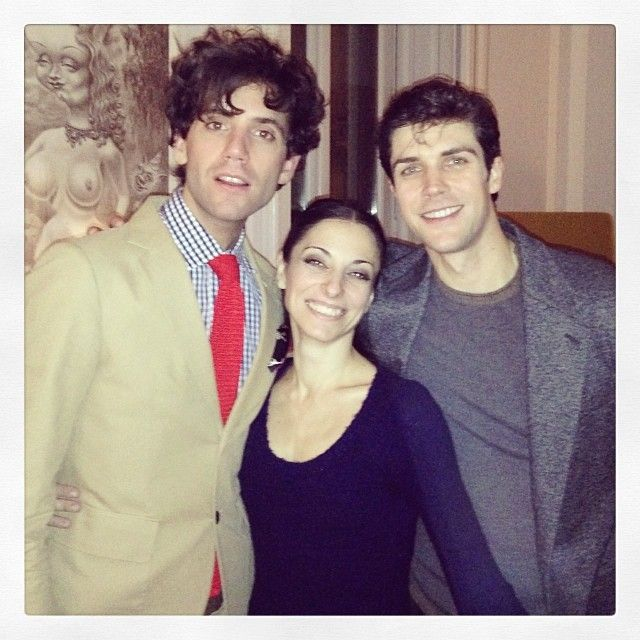 Mika and dancer Roberto Bolle Dec 2013