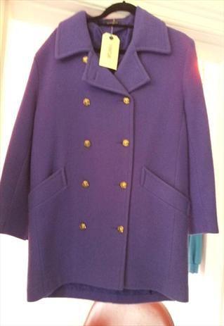 purple wool coat £25