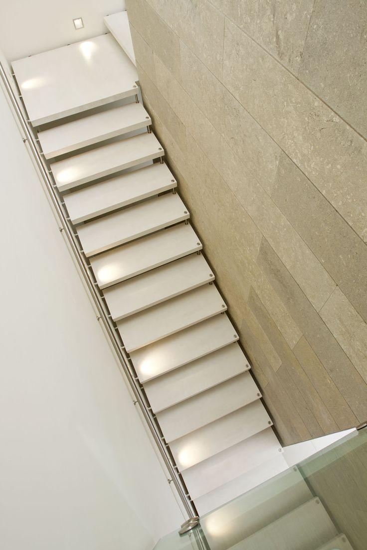 33 best images about escaleras de dise o on pinterest wooden steps origami - Escalier suspendu quart tournant ...