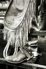 chaps and spurs