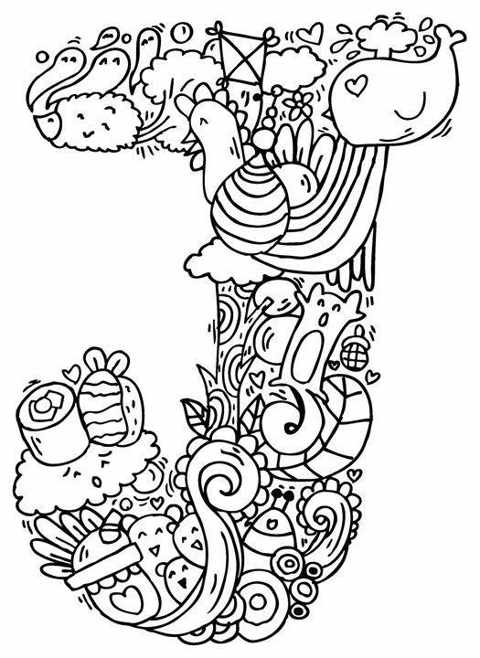 Alphabet Quot J Quot Doodle Art Elephant Bell Drawings