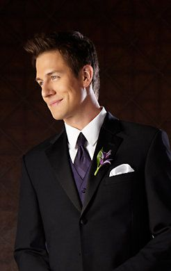Go classic with a #groom look in a Ralph Lauren Three-Button Super 100s Notch Lapel #tuxedo for the #wedding!