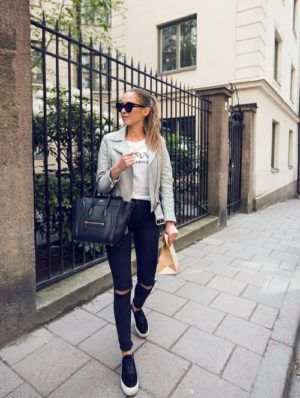 outfit negro bolso