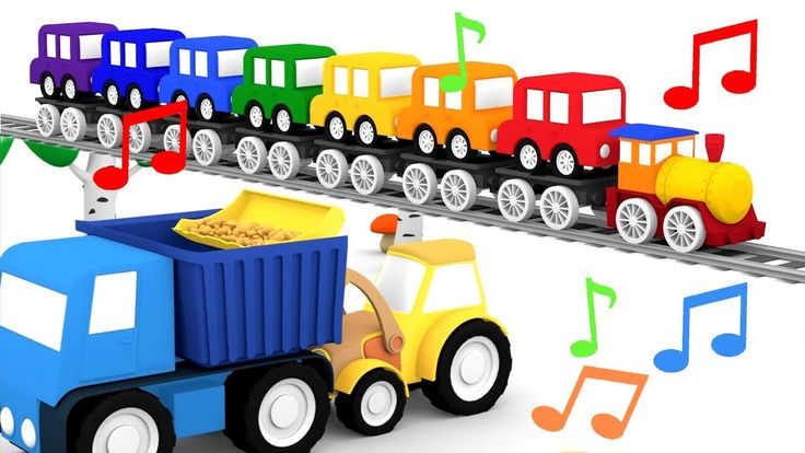 Compilation di canzoni per bambini! Le macchinine colorate | cartoni ani...