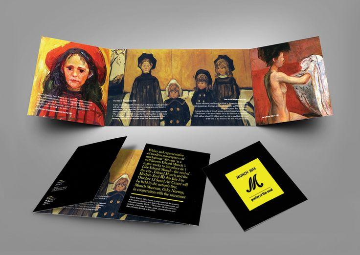 Art Pamphlet - typeC (Edvard Munch) 전시회 팜플렛 C타입 (에드바르뭉크전)