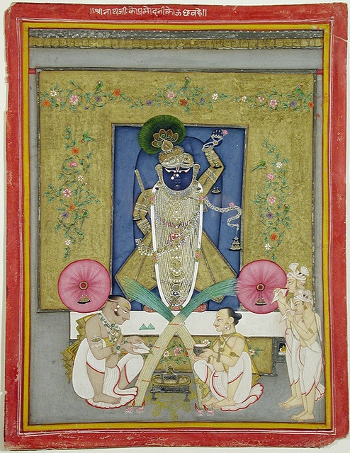 The Adoration of Krishna as Shrinath ji San Diego Museum of Art Collection