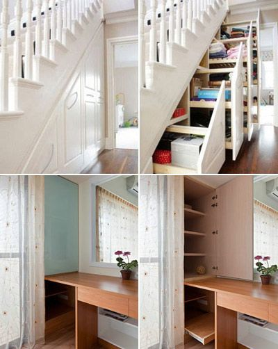 Under the stairs storage... and more storage ideas for small places