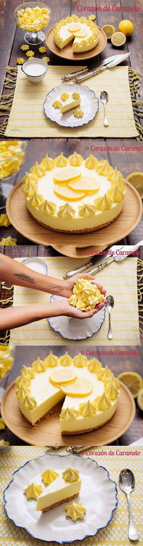 Tarta de limón sin horno / https://www.corazondecaramelo.es