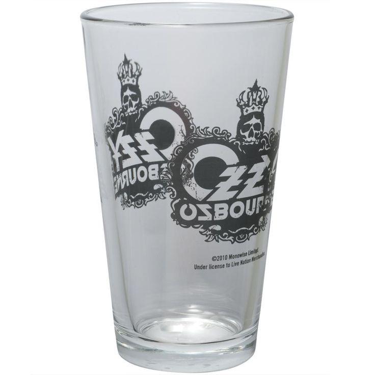 Ozzy Osbourne - Skull Crown Pint Glass