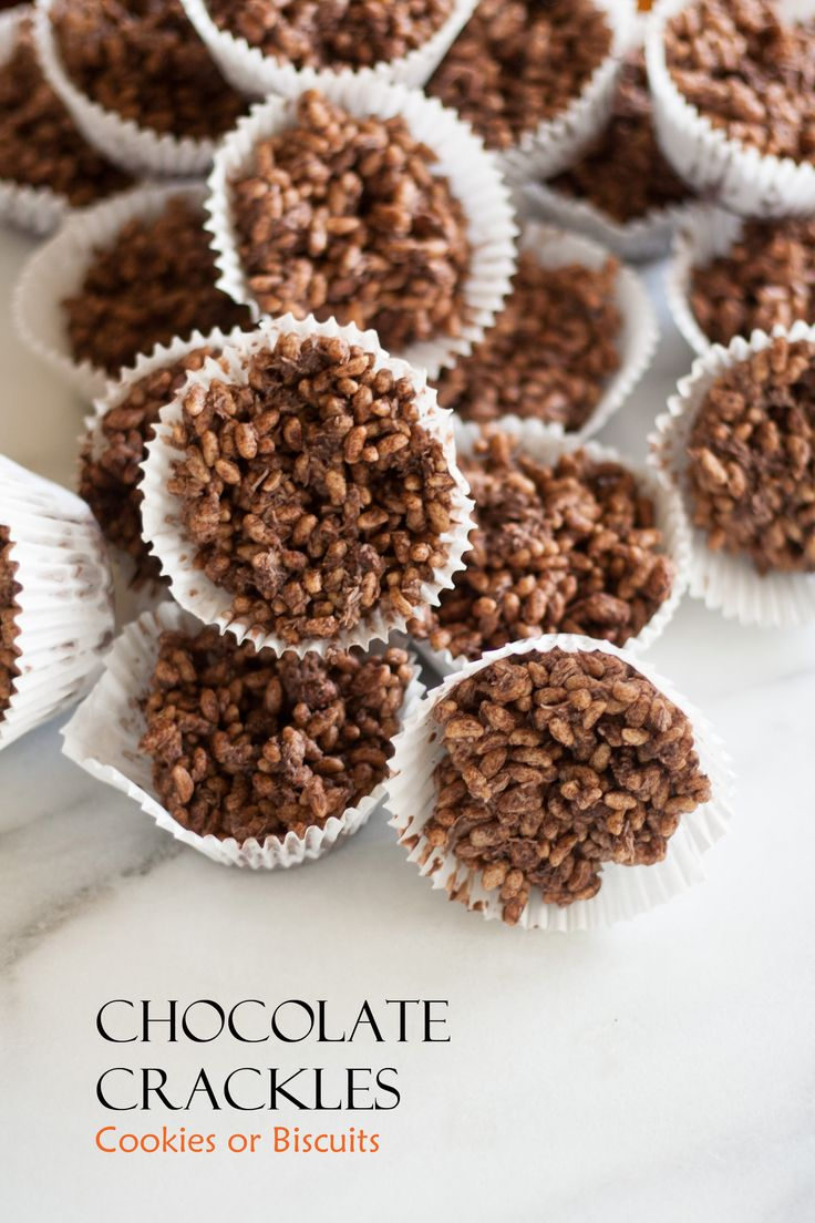 Chocolate Crackles with Name on Photo