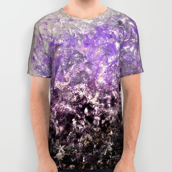 Colorful and unique purple abstract unisex T-shirts for men and women by Vinn Wong | Full collection vinnwong.com | International Shipping | Visit the shop or Pin it For Later!