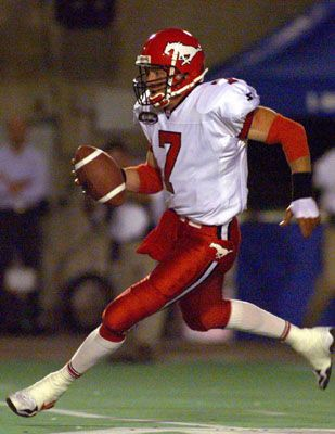 Jeff Garcia in the CFL for the Calgary Stampeders