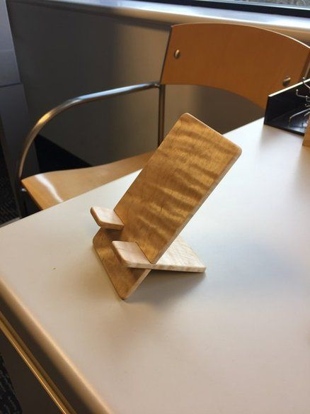 Phone stand for my desk | Diy phone stand, Wood phone ...