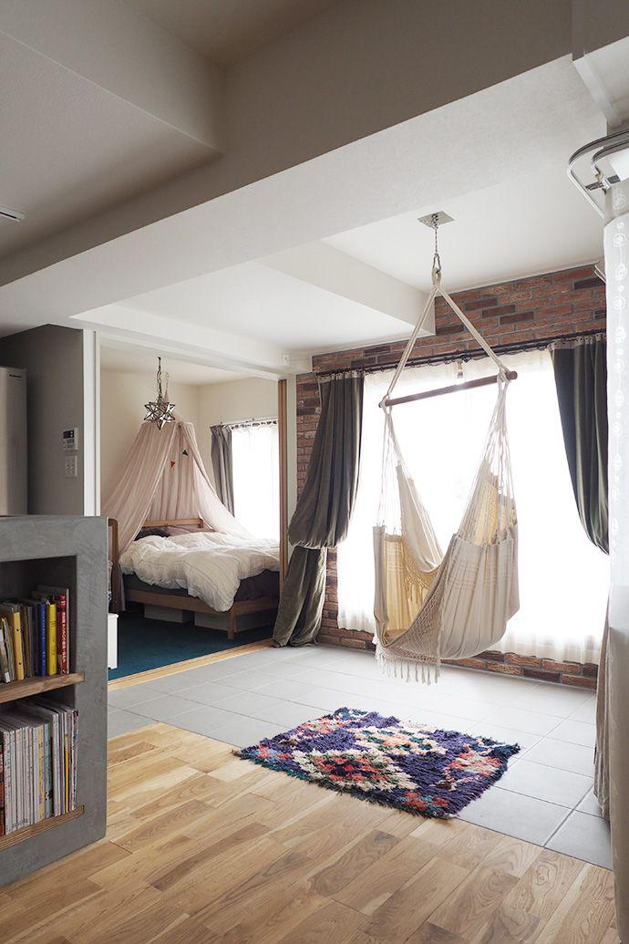 インナーテラス・ハンモック・寝室