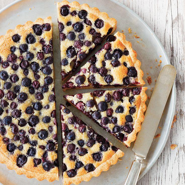 Tarte aux bleuets et aux amandes / Une tarte magnifique, qui met à profit les bleuets d'ici.