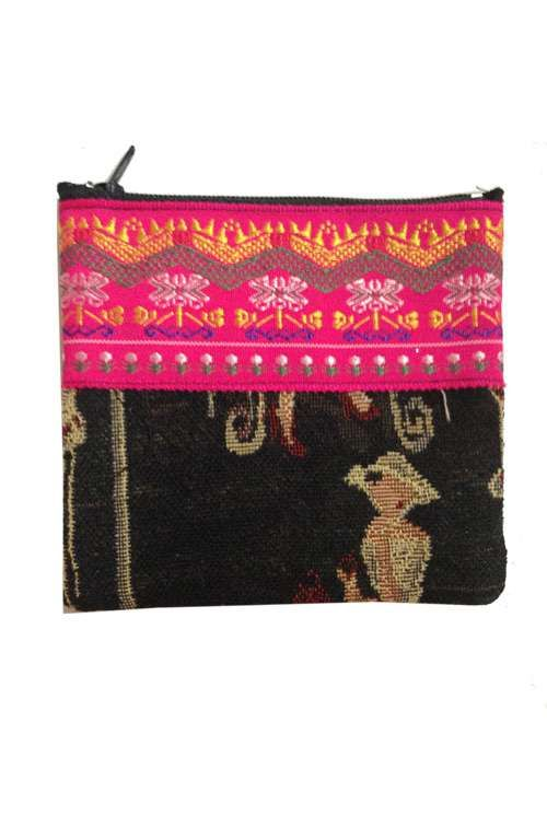 A unique hand embroidered coin purse handmade in Thailand. #offbeatcuts